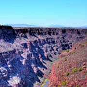 The Rio Grande Gorge Art Print