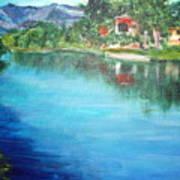 the river Adda Art Print