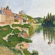 The River Bank Print by Paul Signac