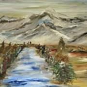 The River Flows Art Print