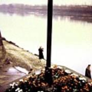 The River Seine 1955 Art Print