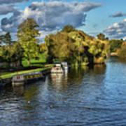 The River Thames At Wallingford Art Print