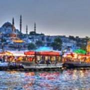 The Riverboats Of Istanbul Art Print