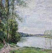 The Riverside Road From Veneux  Art Print