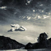 The Road And The Clouds Art Print