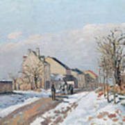 The Road From Gisors To Pontoise Art Print by Camille Pissarro