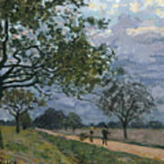 The Road From Versailles To Louveciennes Art Print