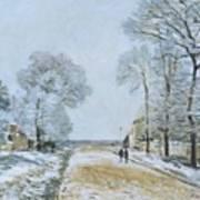 The Road, Snow Effect Art Print