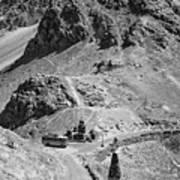 The Road To Ladakh Bw Art Print