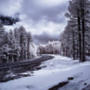 The Road To Snow Art Print