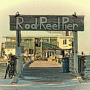 The Rod And Reel Pier Vintage   Art Print