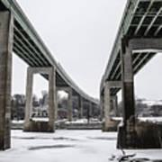 The Roosevelt Expressway Bridges Art Print