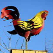 The Rooster . Square . 40d4622 Art Print