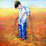 The Roping Lesson Art Print