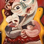 The Rose Madonna Art Print by John Keaton