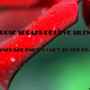 The Rose Speaks Of Love Art Print