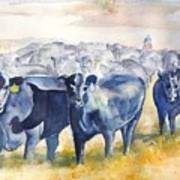 The Round Up Cattle Drive  Art Print