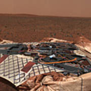The Rovers Landing Site, The Columbia Print by Stocktrek Images