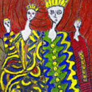 The Royal Sisters Art Print