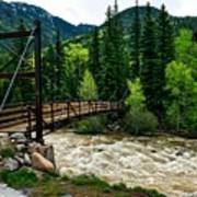 The Rushing Animas River - Colorado Art Print