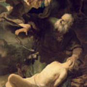 The Sacrifice Of Abraham Art Print by Rembrandt
