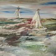 The Sailboat Race Art Print