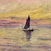 The Sailing Boat Evening Effect Art Print by Claude Monet
