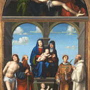 The Saint Anne Altarpiece From San Frediano Lucca Art Print
