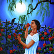 The Scent Of Red Roses Art Print