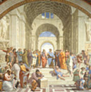 The School Of Athens, Raphael Art Print