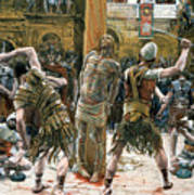 The Scourging Art Print by Tissot
