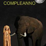 The Scream World Tour African Elephant Happy Birthday Italian Art Print