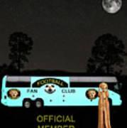 The Scream World Tour Football Tour Bus Art Print by Eric Kempson