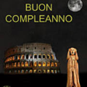 The Scream World Tour Rome Happy Birthday Italian Art Print