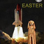 The Scream World Tour Space Shuttle Happy Easter Art Print