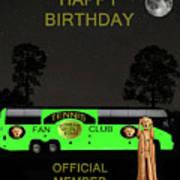 The Scream World Tour Tennis Tour Bus Happy Birthday Print by Eric Kempson