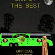 The Scream World Tour Tennis Tour Bus Simply The Best Art Print