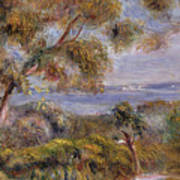The Sea At Cagnes Print by Pierre Auguste Renoir