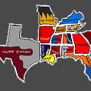 The Sec South Eastern Conference Teams Art Print