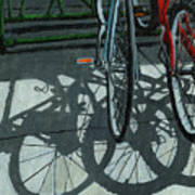 The Secret Meeting - Bicycle Shadows Art Print