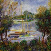 The Seine At Argenteuil Art Print by Pierre Auguste Renoir