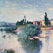 The Seine At Lavacourt Art Print by Claude Monet