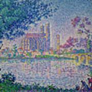 The Seine At Mantes, By Paul Signac, 1899-1900, Kroller-muller M Art Print