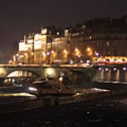 The Seine At Night Art Print