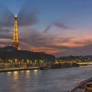 The Seine Evening Art Print