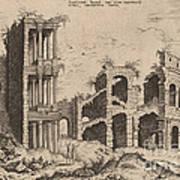 The Septizonium And The Colosseum Art Print