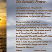 The Serenity Prayer Art Print by Barbara Snyder