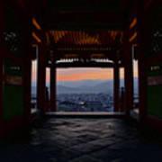 The Setting Sun And Kiyomizu-dera Art Print