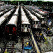 The Seven Train Yard Queens Ny Art Print