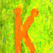 The Sexy K  - Orange -  - Pa Art Print